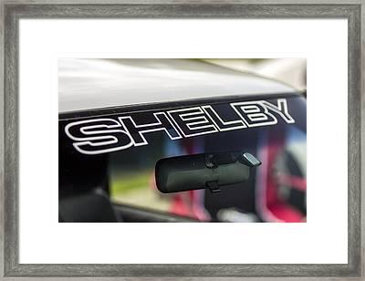 Birthday Car - Shelby Windshield Framed Print
