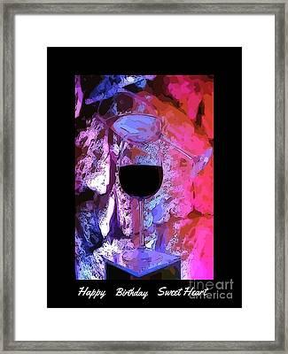 Birthday Card Two Framed Print