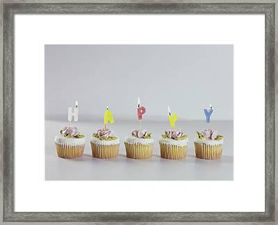 Birthday Cupcakes Framed Print by Romulo Yanes