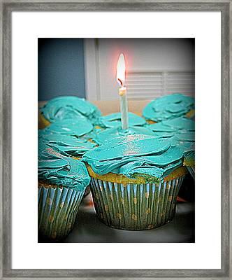 Birthday Cupcakes Framed Print