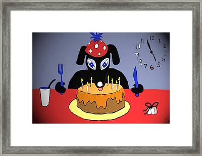 Birthday Dog Framed Print