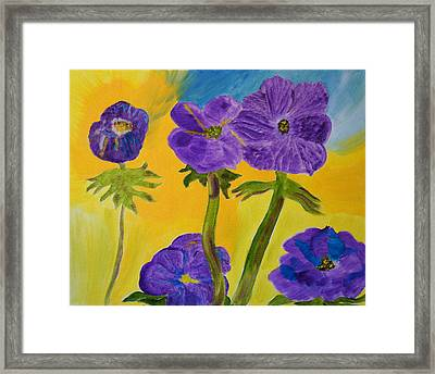 Framed Print featuring the painting Birthday Memory by Meryl Goudey