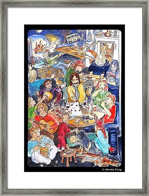 Birthday Framed Print by Nandy King