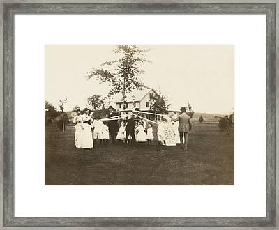 Birthday Party Maypole Framed Print by Underwood Archives
