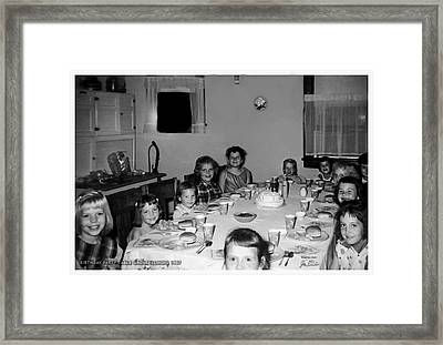 Birthday Party Table Grove Illinois 1957 Framed Print