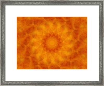 Birthing Mandala 4 Framed Print by Rhonda Barrett