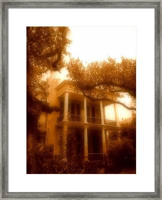 Birthplace Of A Vampire In New Orleans, Louisiana Framed Print