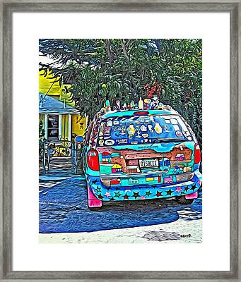 Bisbee Arizona Art Car Framed Print by Rebecca Korpita