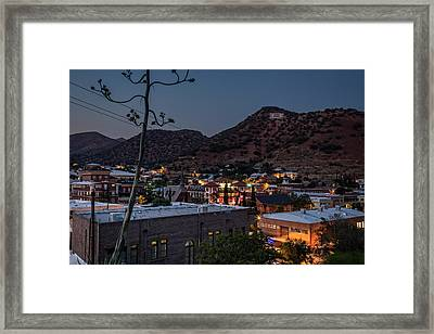 Framed Print featuring the photograph Bisbee At Night by Beverly Parks