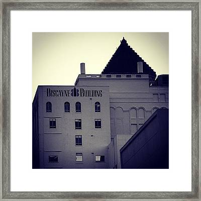 Biscayne Bldg. - Miami ( 1925 ) Framed Print by Joel Lopez