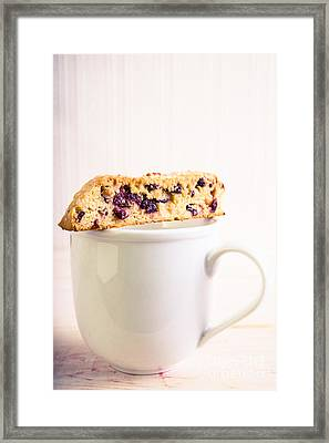 Biscotti And Coffee Framed Print