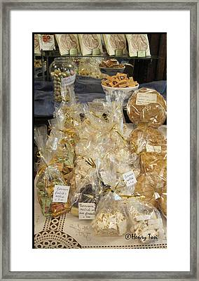 Biscotti And Torrone Framed Print by Henry Tosi