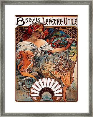 Biscuits Lefeure Utile Poster Framed Print