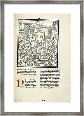 Bishop And Devils Framed Print by British Library