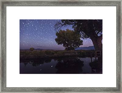 Bishop Canal Star Trails Framed Print by Cat Connor