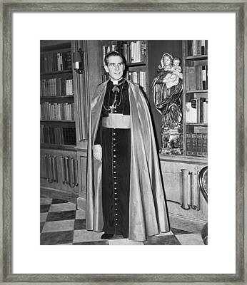 Bishop Fulton J. Sheen Framed Print by Fred Palumbo