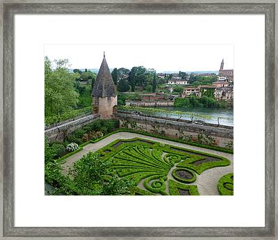 Bishop Garden In Albi France Framed Print by Susan Alvaro