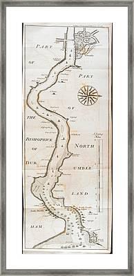 Bishoprics Of Durham And Northumberland Framed Print
