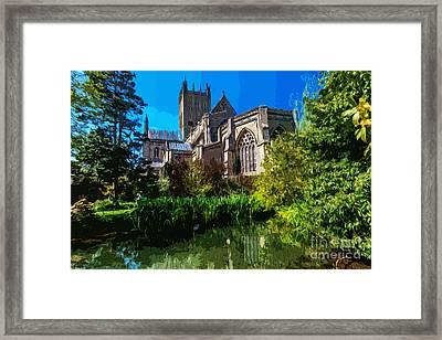 Bishops Garden Behind Cathedral Framed Print