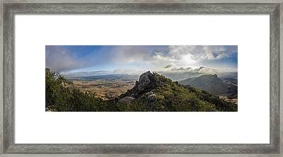Bishop's Peak Framed Print