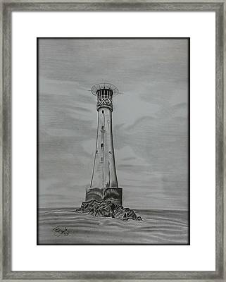 Bishops Rock Lighthouse Framed Print by Tony Clark