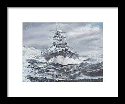 Battle Of The Atlantic Framed Prints