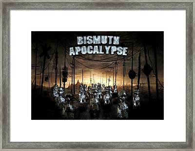 Framed Print featuring the photograph Bismuth Apocalypse by Tarey Potter