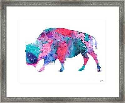 Bison 2 Framed Print by Luke and Slavi