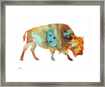 Bison 5 Framed Print by Luke and Slavi