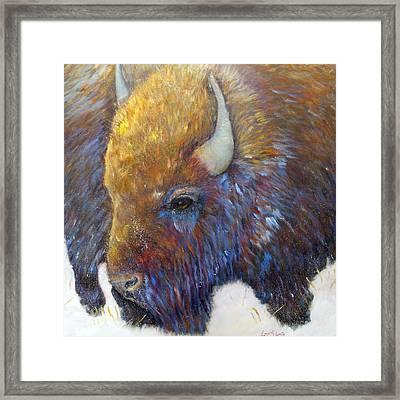 Bison Framed Print by Loretta Luglio