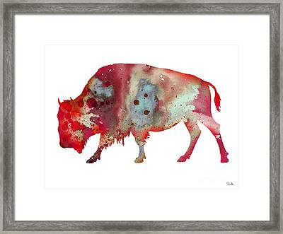 Bison Framed Print by Luke and Slavi