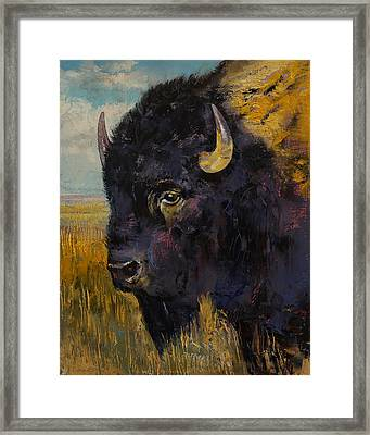 Bison Framed Print by Michael Creese