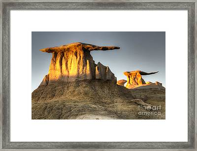 Bisti/de-na-zin Wilderness Golden Wings Framed Print by Bob Christopher
