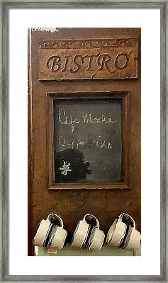 Bistro  Framed Print by Bonnie Bruno