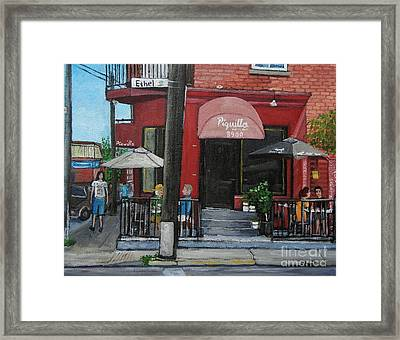 Bistro Piquillo In Verdun Framed Print by Reb Frost