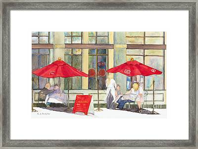 Bistro Framed Print by Sandy Linden