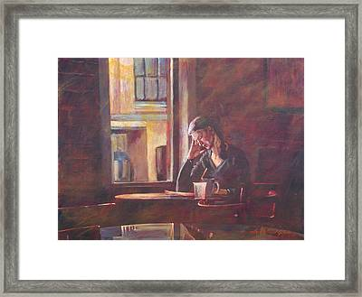 Bistro Student Framed Print by David Lloyd Glover