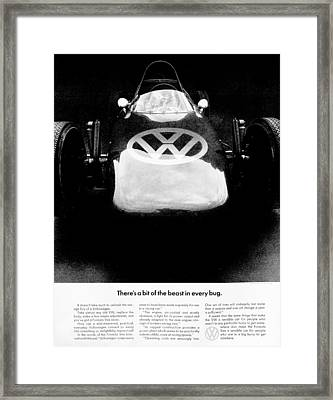 Bit Of Beast Framed Print by Benjamin Yeager