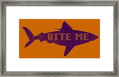 Bite Me Framed Print by Michelle Calkins