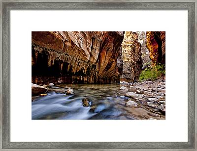 Biting The Rocks Framed Print by Juan Carlos Diaz Parra