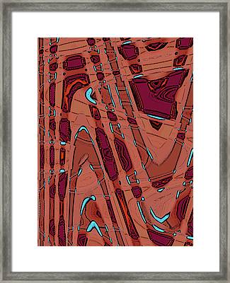 Bits And Pieces - Warm Framed Print by Ben and Raisa Gertsberg