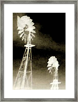 Bits Of Dust In The Wind Framed Print