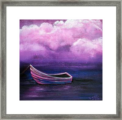 Bitter Berry Sea Framed Print by Laura Barbosa