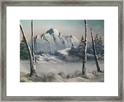 Bitter Cold Framed Print by Ricky Haug