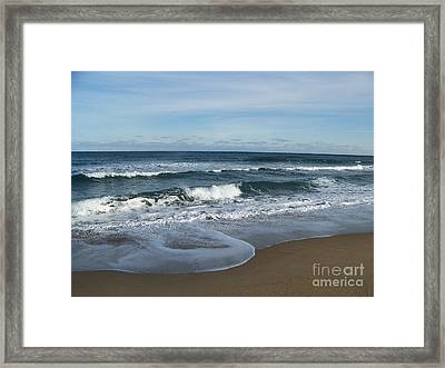 Framed Print featuring the photograph Winter Beach  by Eunice Miller