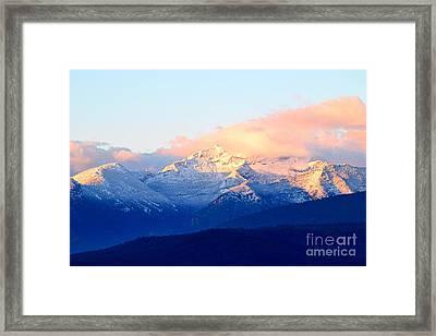 Bitterroot Mountains Montana Framed Print