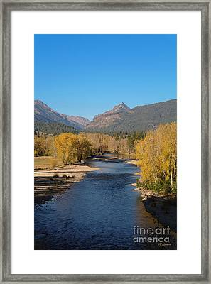 Framed Print featuring the photograph Bitterroot River Fall by Joseph J Stevens