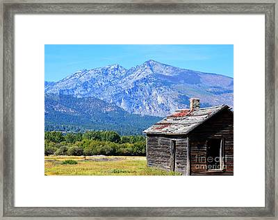 Framed Print featuring the photograph Bitterroot Valley Cabin by Joseph J Stevens