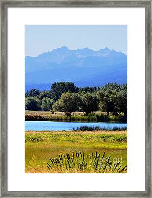 Framed Print featuring the photograph Bitterroot Valley Montana by Joseph J Stevens