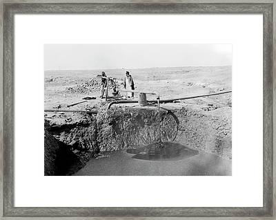 Bitumen Well In Iraq Framed Print by Library Of Congress